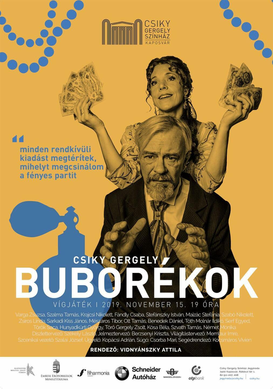 A(z) Buborékok című előadás plakátja
