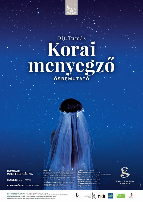A(z) Korai menyegző című előadás plakátja