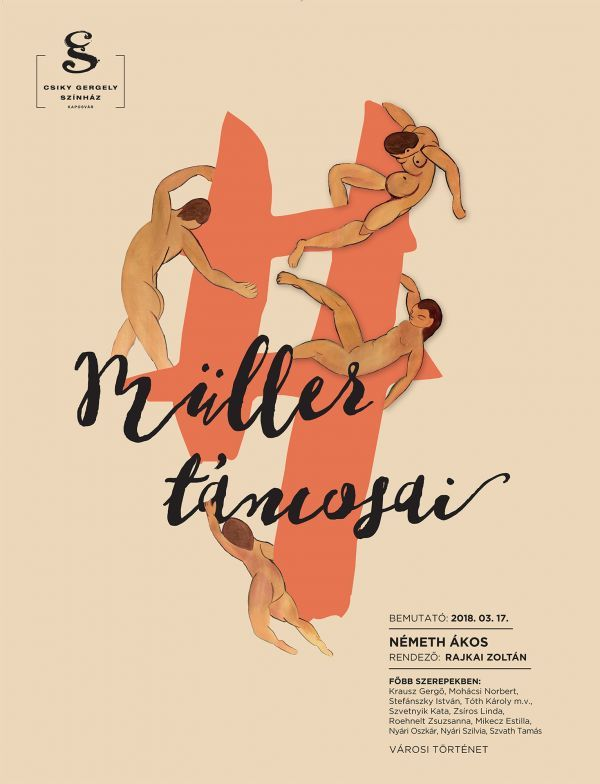 A(z) Müller táncosai című előadás plakátja