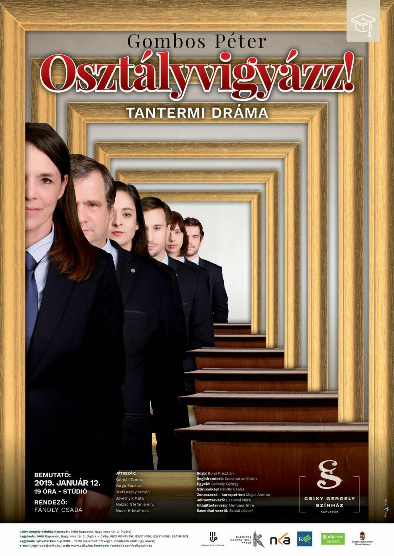 A(z) Osztályvigyázz! című előadás plakátja