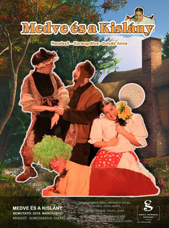 A(z) Medve és a Kislány című előadás plakátja