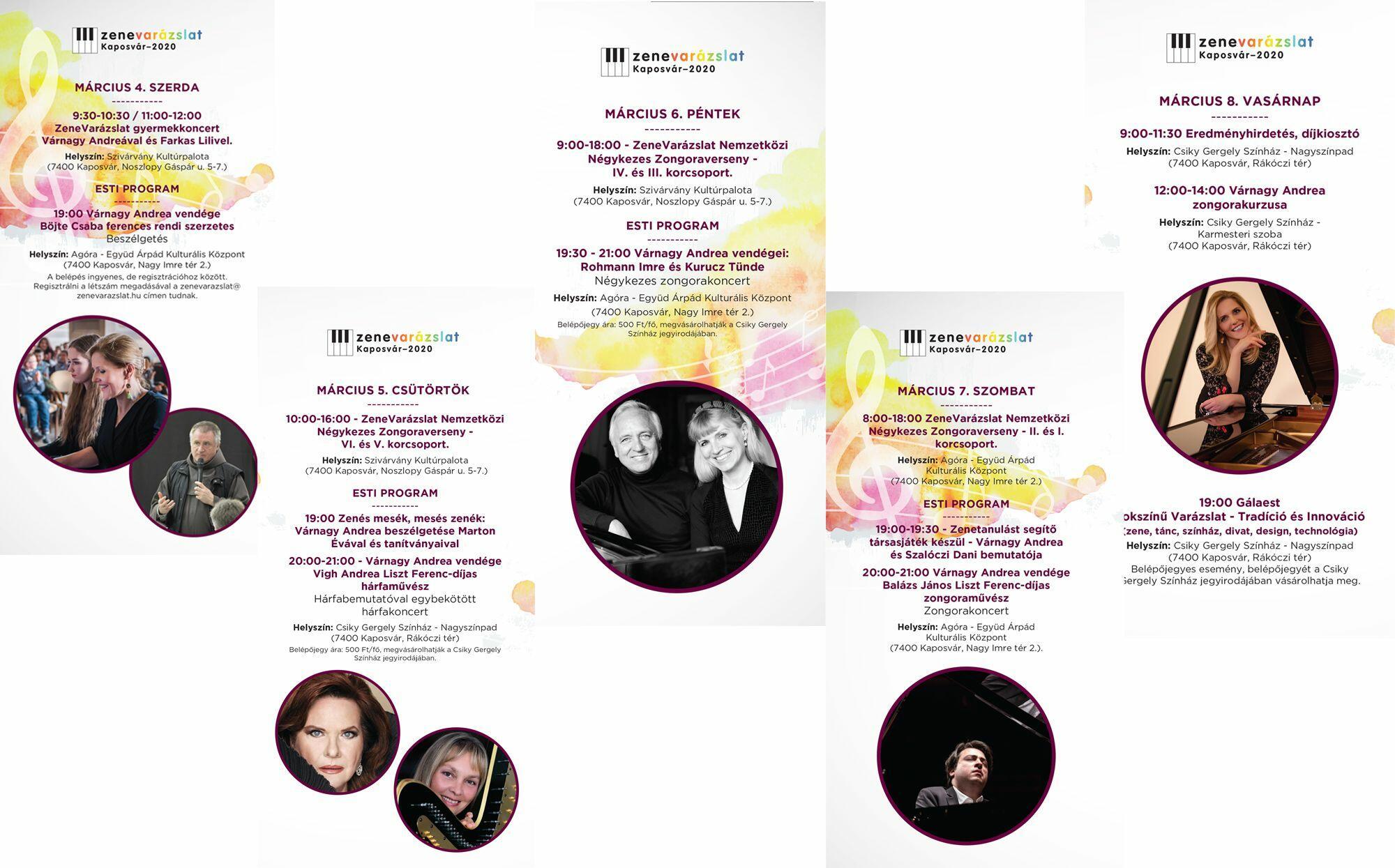 A(z) Zenés mesék, mesés zenék című előadás plakátja
