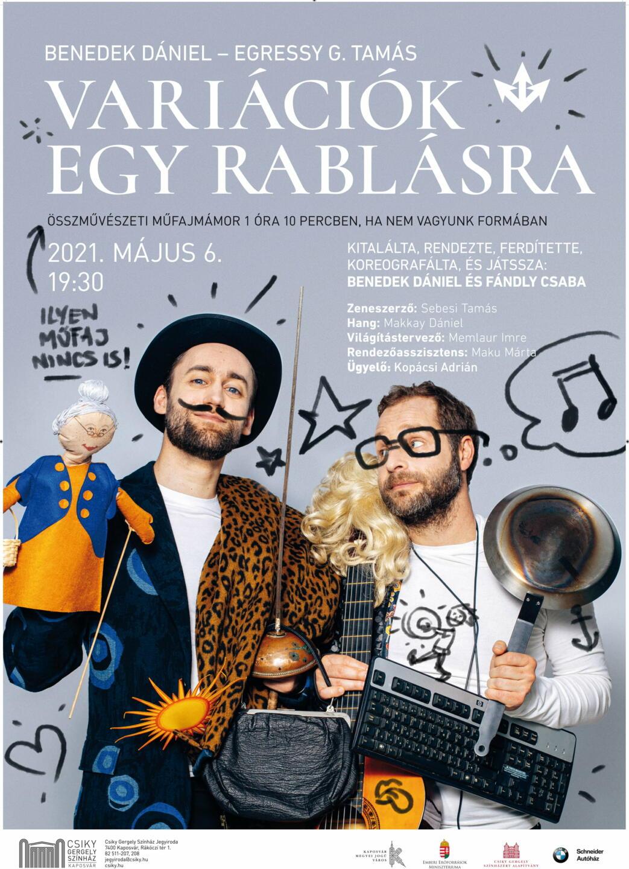 A(z) Variációk egy rablásra című előadás plakátja
